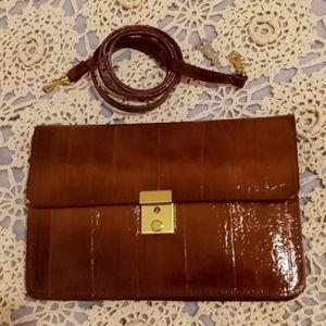Vintage Locking Leather Convertible Purse